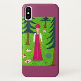Coque iPhone X Coque-Compagnon de l'iPhone 3G de forêt de