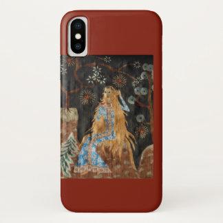 Coque iPhone X Coque-Compagnon d'or de l'iPhone 3G de cheveux