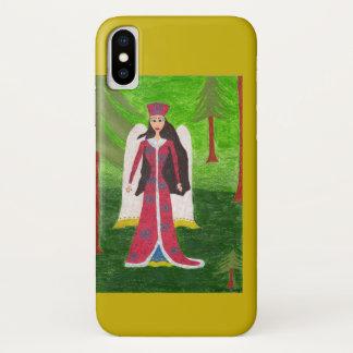 Coque iPhone X Coque-Compagnon sibérien de l'iPhone 3G d'ange