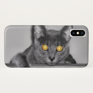Coque iPhone X Coque-Compagnon sombre d'iPhone d'or