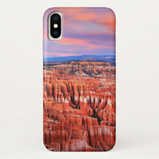 Coque iPhone X Coucher du soleil de canyon de Bryce