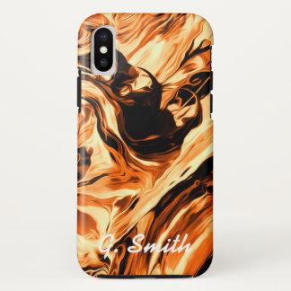 Coque iPhone X Couleurs chaudes de peinture de circulation.