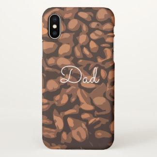Coque iPhone X Coutume moderne de papa d'art de grains de café