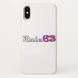 Coque iPhone X Couverture d'IPhone de la règle 63