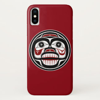 Coque iPhone X Crâne pleurant de Haida du nord-ouest de Côte