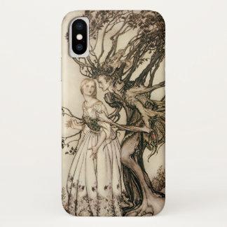 Coque iPhone X Dame âgée dans le bois par Arthur Rackham