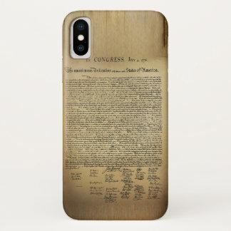 Coque iPhone X Déclaration d'indépendance vintage