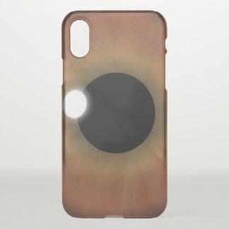 Coque iPhone X D'eyePhone étrange de Brown de globe oculaire