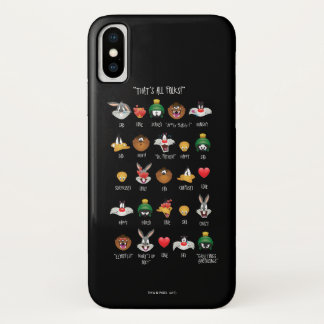 Coque iPhone X Diagramme LOONEY de TUNES™ Emoji