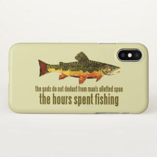 Coque iPhone X Dire de pêche de mouche de truite de ruisseau