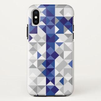 Coque iPhone X Drapeau abstrait de la Finlande, couleurs