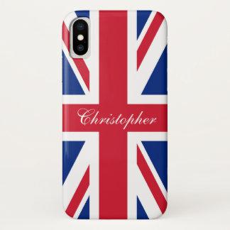 Coque iPhone X Drapeau britannique BRITANNIQUE Union Jack du