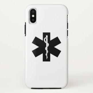 Coque iPhone X Étoile d'infirmier de SME EMT