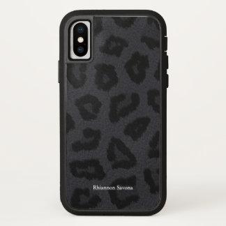 Coque iPhone X Fourrure de panthère noire