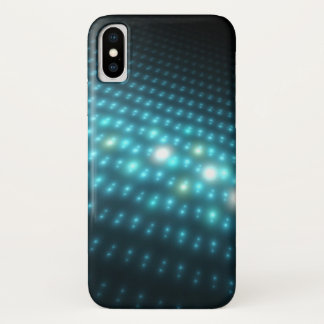 Coque iPhone X Globes bleus 3D