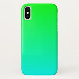 Coque iPhone X Gradient de chaux d'Aqua
