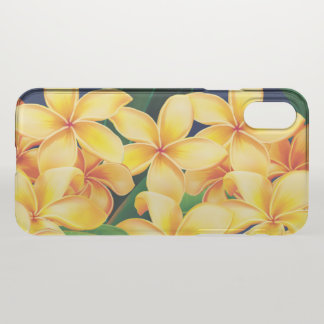 Coque iPhone X Hawaïen tropical de Plumeria de paradis