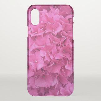 Coque iPhone X Hortensia rose lumineux