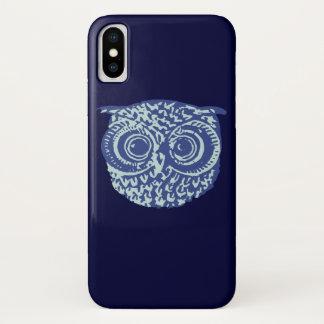 Coque iPhone X Image mignonne bleue de hibou