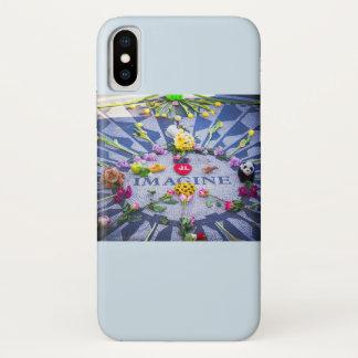 Coque iPhone X Imaginez Strawberry Fields NYC