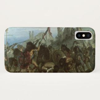 Coque iPhone X Indiens vintages, danse de bison par Karl Bodmer