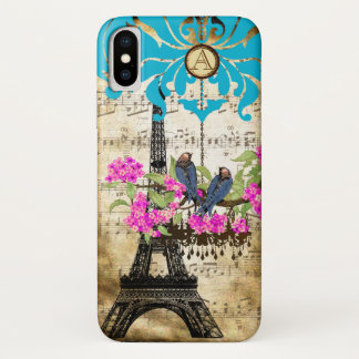 Coque iPhone X iPhone de lustre d'oiseau de fleurs de cerisier de