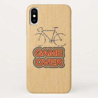 Coque iPhone X Jeu de recyclage plus de. Arrière - plan en bois