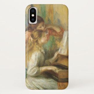 Coque iPhone X Jeunes filles au piano par Pierre Renoir