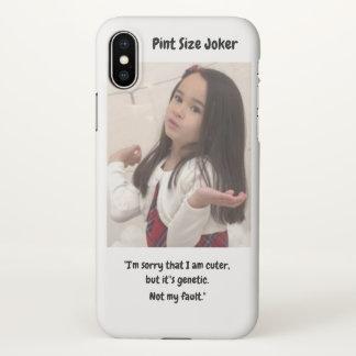 Coque iPhone X Joker de taille de pinte : Gentillesse génétique