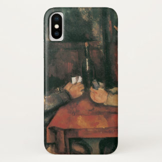 Coque iPhone X Joueurs de carte par Paul Cezanne, beaux-arts