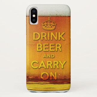 Coque iPhone X La bière drôle de boissons et continuent