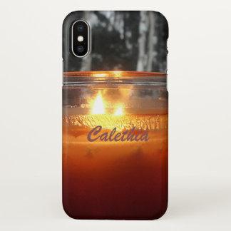 Coque iPhone X La photo brûlante de bougie personnalisent avec le