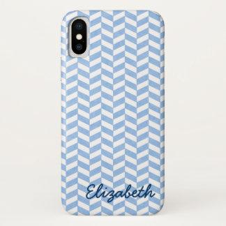 Coque iPhone X La plage blanche bleue en arête de poisson colore