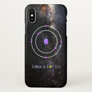 Coque iPhone X La Science d'atome de carbone est pour des filles
