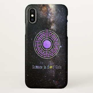 Coque iPhone X La Science d'atome de platine est pour des filles