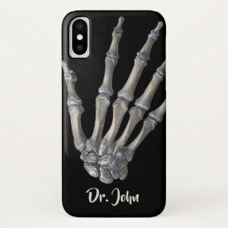 Coque iPhone X La Science humaine vintage d'anatomie, mains
