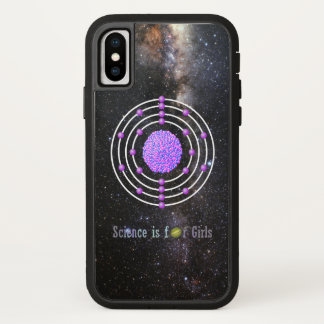 Coque iPhone X La Science titanique d'atome est pour des filles