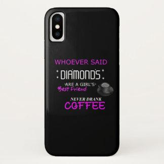 Coque iPhone X Le café est mon cas de téléphone portable de BFF