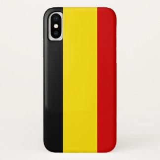 Coque iPhone X Le drapeau de la Belgique