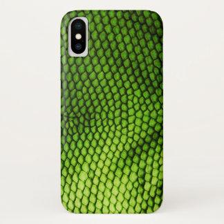 Coque iPhone X Le Faux exotique Iquana mesure le poster de animal