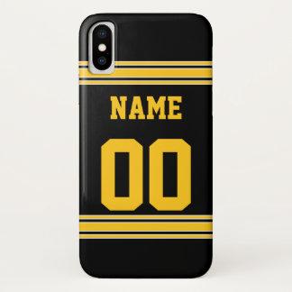 Coque iPhone X Le football Jersey avec le secteur à customiser