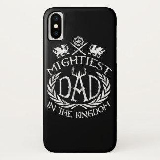 Coque iPhone X Le papa le plus puissant dans le royaume