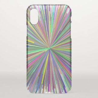 Coque iPhone X Ligne multicolore cas de téléphone de motif