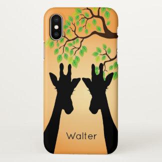 Coque iPhone X Longue girafe de cils