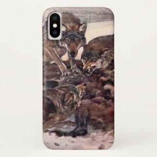 Coque iPhone X Loups par Winifred Austen, animaux sauvages