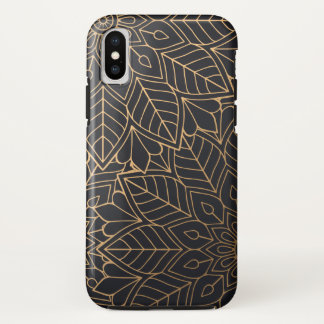 Coque iPhone X Luxe floral