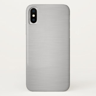 Coque iPhone X Luxe métallique argenté élégant
