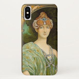 Coque iPhone X Madame en vert
