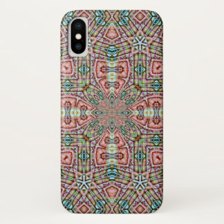 Coque iPhone X Mandala décoratif d'hologramme