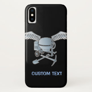 Coque iPhone X Mélangeur concret bleu-gris